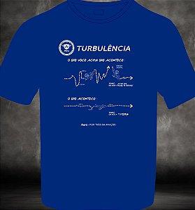 Camiseta manga curta TURBULÊNCIA - AZUL