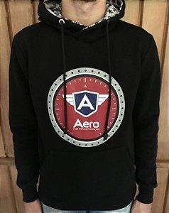 Moletom Unissex Preto AERO com Logo