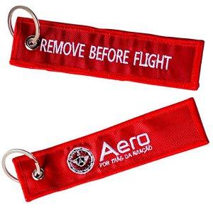CHAVEIRO VERMELHO - REMOVE BEFORE FLIGHT - AERO