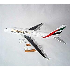 MAQUETE  AVIÃO EMIRATES A380 50CM