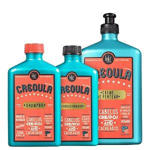 Kit Creoula Lola - Shampoo 250ml Condicionador 250ml e Creme de pentear 500g