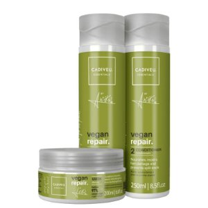 Kit Vegan Repair Anitta Cadiveu - Shampoo 250ml Condicionador 250ml e Mascara 200g
