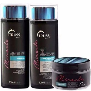 Kit Miracle Truss -  shampoo condicionador e mascara - 300 ml e 180g
