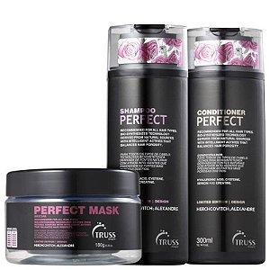 Kit Perfect Truss - shampoo condicionador e máscara - 300 ml e 180g