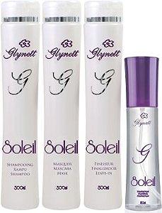 Kit Solei - shampoo condicionador finalizador e óleo reparador