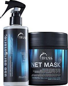 Kit net mask obrigatório Truss - uso obrigatório 260ml e mascara 550g