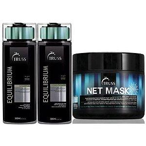 Kit Equilibrium Mask Truss - shampoo e condicionador 300ml e mascara 550g