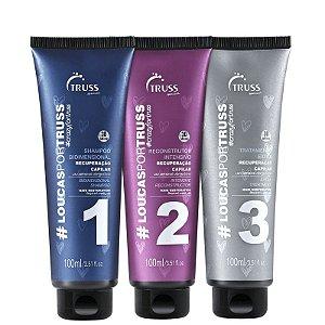 Kit loucas por truss - shampoo condicionador e mascara 100ml