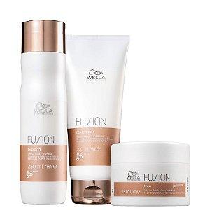 Kit fusion Wella - shampoo condicionador 200ml e mascara 150ml