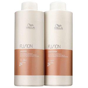 Kit fusion Wella - shampoo e condicionador 1L