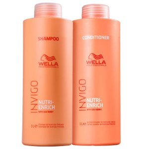Kit Nutri Enrich Wella - shampoo e condicionador 1L