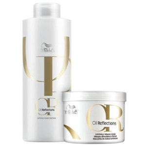 Kit Oil Reflections Wella - Shampoo 1L e mascara 500ml