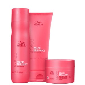 Kit Color Brilliance Wella - Shampoo 250ml Condicionador 200ml e Mascara 150ml