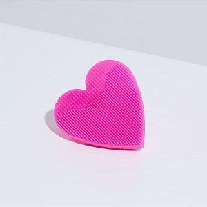 Heart sponge Oceane - Esponja de limpeza facial rosa