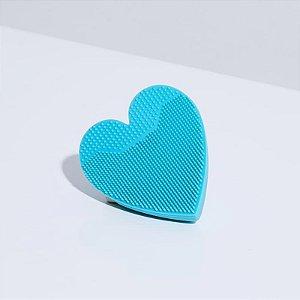 Heart Sponge - Esponja de limpeza facial azul