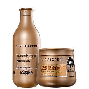 Kit Absolut Repair Gold Quinoa - Shampoo 300ml e Mascara Gold LightWeight 250ml