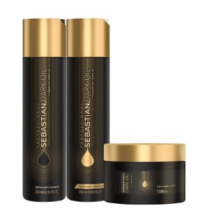 Kit Dark Oil Sebastian - Shampoo 250ml Condicionador 250ml e Mascara 150g