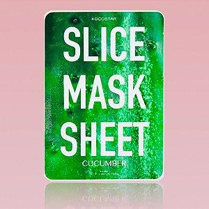 Slice Mask Sheet Cucumber - Mascara facial de pepino em fatias (12 fatias )