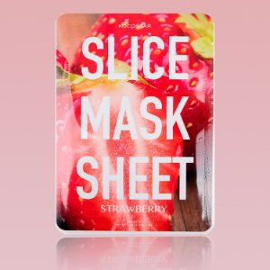Strawberry Slice Mask Sheet - Mascara facial em fatias de morango (12 fatias)