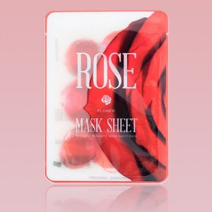 Rose Slice Mask Sheet - Mascara facial de morango em fatias (12 fatias)
