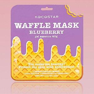 Waffle Mask Blueberry Kocostar - Mascara facial waffle de blueberry