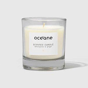 Scented Candle Lemongrass e Ginger Oceane - Vela Aromatica de Capim-limão e Gengibre 180g