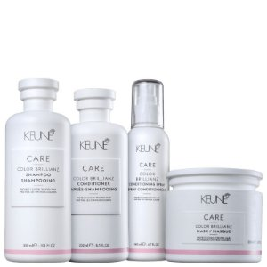 Kit Color Brillianz Keune Completo - Shampoo, condicionador, mascara e leave-in spray