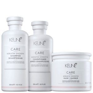 Kit Keratin Smooth Keune - Shampoo 300ml, Condicionador 250ml e Mascara 200ml