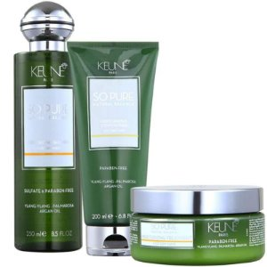 Kit So Pure Moisturizing Keune - Shampoo 250ml e Condicionador 200ml e Mascara 200ml