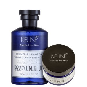 Kit 1922 Essential Premier Keune - Shampoo 250ml e Cera 75ml