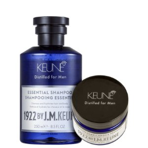 Kit 1922 Essential Clay Keune - Shampoo 250ml e Cera 75ml
