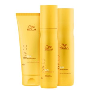 Kit Invigo Sun Wella - Shampoo 250ml Condicionador 200ml e Leave-in 150ml
