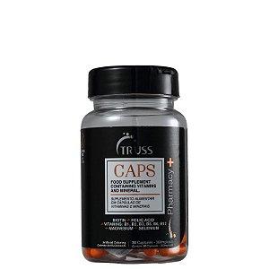 Suplemento Alimentar Truss Pharmacy+ Caps - Capsulas de crescimento capilar (30 capsulas)