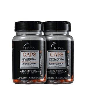 Kit Pharmacy+ Caps Truss - Capsulas de crescimento capilar (2x de 30 capsulas)