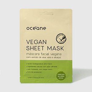 Vegan Sheet Mask Oceane - Mascara facial vegana de aloe vera e alcaçuz 15g