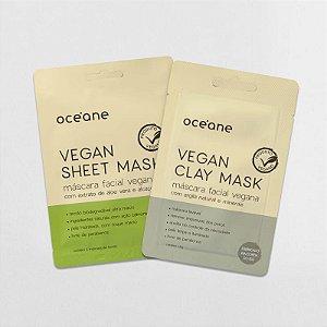 Kit Vegan Masks Oceane - Mascaras faciais veganas de agila e aloe e vera