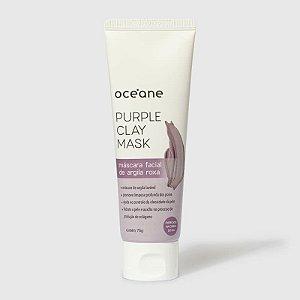 Purple Clay Mask Oceane - Mascara Facial De Argila Roxa 75g