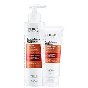 Kit Dercos Kera Solutions Vichy - Shampoo 300ml e Condicionador 200ml