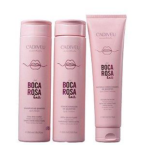 Kit Boca Rosa Cadiveu - Shampoo 250ml Condicionador 250ml e Proteína 150ml
