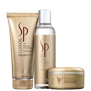 Kit SP Luxe Oil Wella - Shampoo 250ml Condicionador 200ml e mascara 150ml