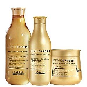 Kit Nutrifier Loreal - Shampoo 300ml Condicionador 200g e Mascara 250g