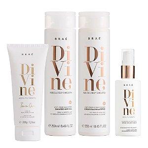 Kit Divine Brae - Sh 250ml, Cond 250ml, Mascara Liquida 60ml e Leave in 200g