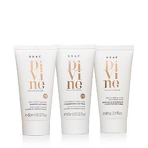 Kit Divine Mini Brae - Sh 60ml, Cond 60ml e Mascara 60ml