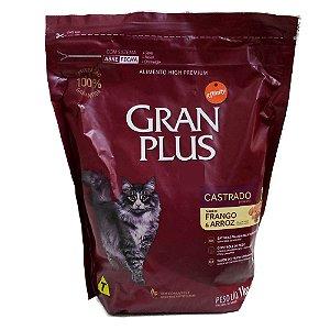 Ração GranPlus Gatos Adultos Castrados Frango e Arroz 1kg