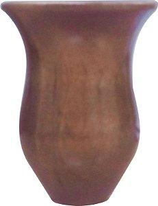 Cuia Madeira pé Reto 13 a 14 cm