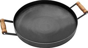 Disco de Ferro 38 cm com Borda 4 cm Fundo Cônico