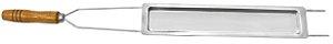 Espeto Duplo Aço Cromado com Assador Queijo 85 cm