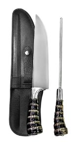 Faca Inox 2308 CSRT com Chaira e Bainha 08 polegadas