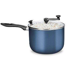Pipoqueira Alumínio Supra Azul nº 22 TVT Transparente