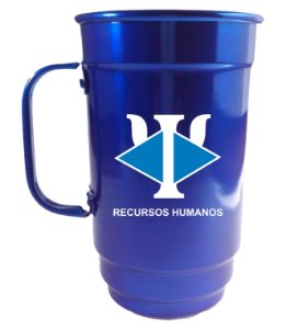Caneca Alumínio 101-S 750ml Azul Verniz